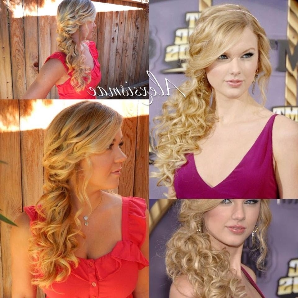 Taylor Swift❤ Curly Side Swept Ponytail – Youtube In Preferred Side Swept Pony Hairstyles (View 19 of 20)