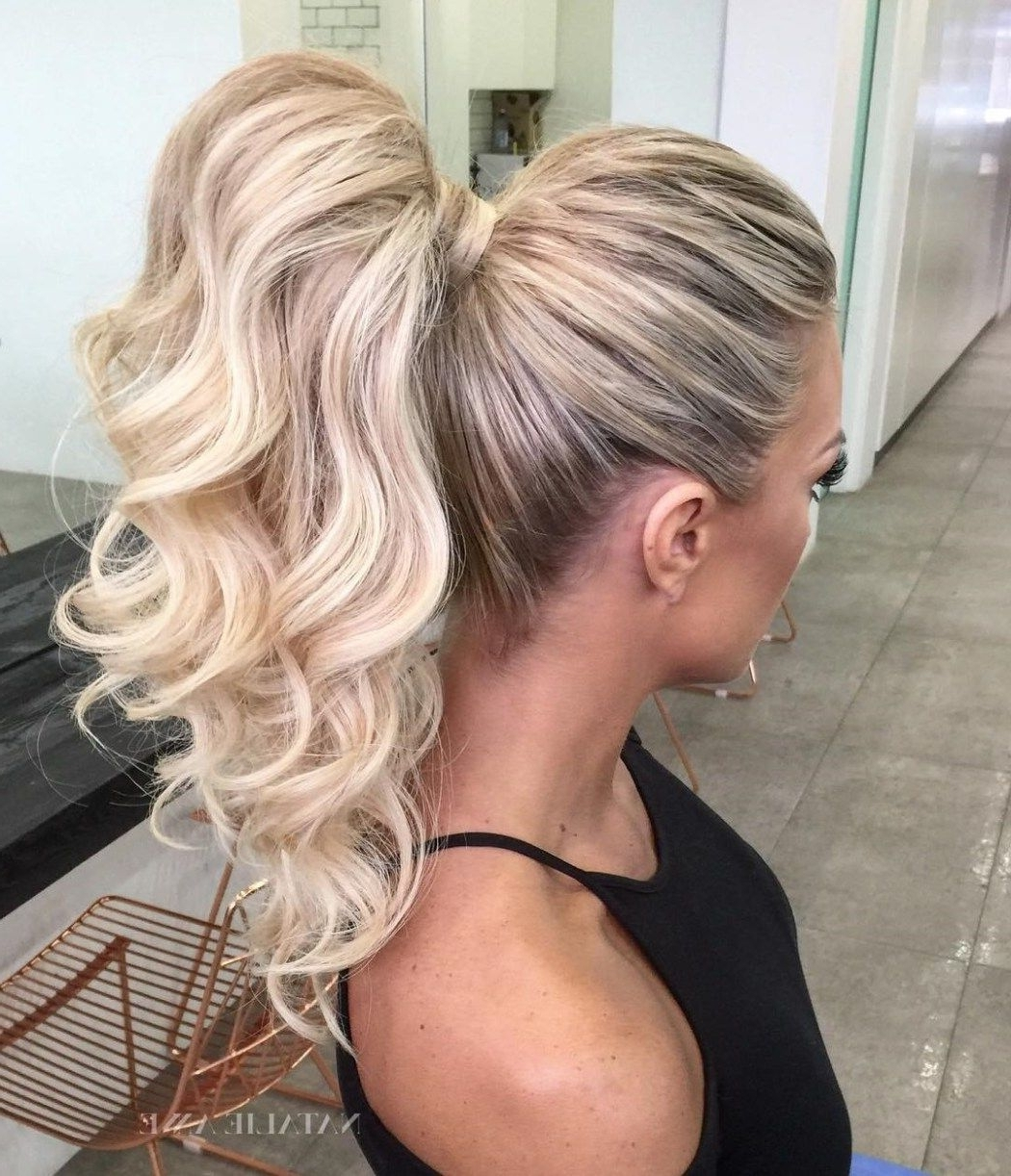 Featured Photo of Full And Fluffy Blonde Ponytail Hairstyles