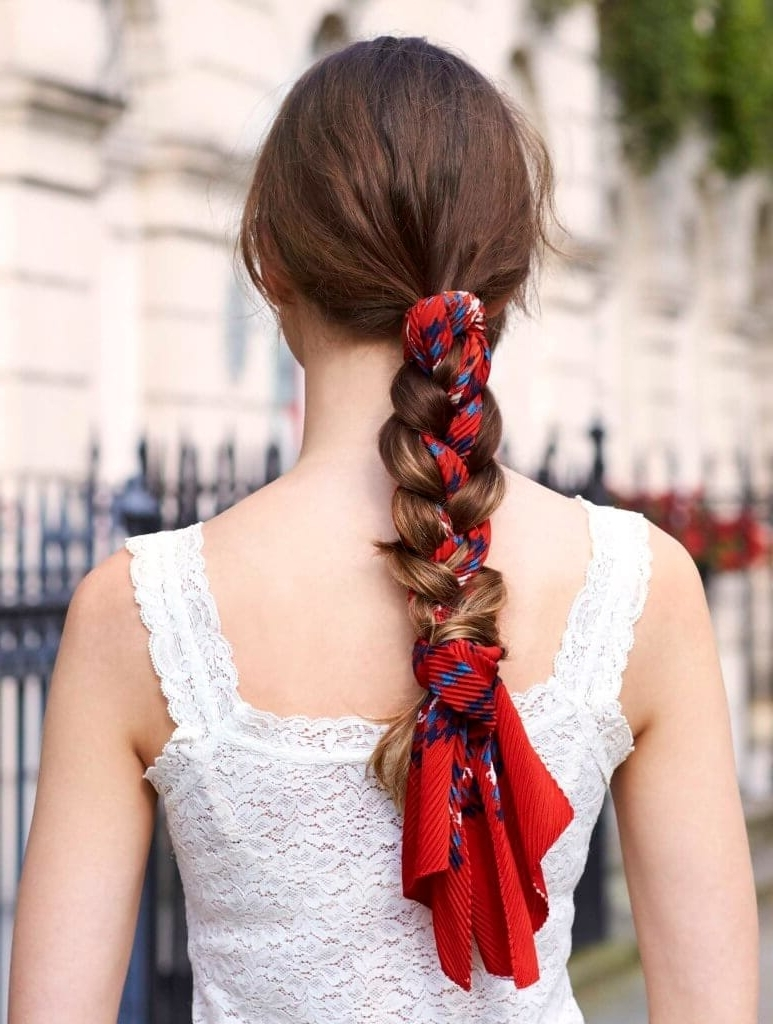 The Best Braided Hairstyles You Can Weave At Home Regarding Most Popular Hidden Braid Hairstyles (View 19 of 20)