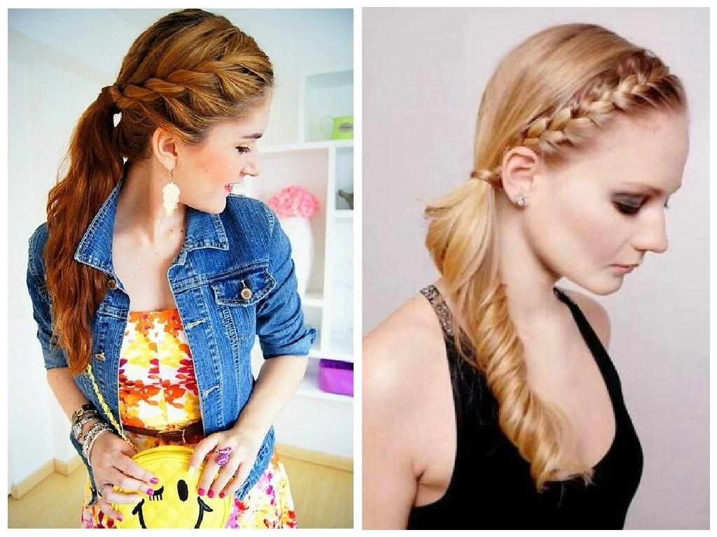 The Best Crown Braid Hairstyle Ideas – Hair World Magazine Pertaining To 2017 Side Bangs And Pony Hairstyles For Wavy Hair (View 16 of 20)