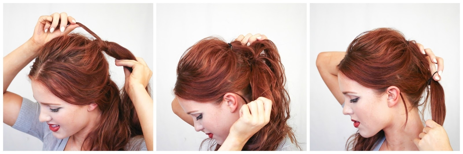 The Freckled Fox: Hair Tutorial: D&g Inspired Textured Double Ponytail Regarding Favorite Double Tied Pony Hairstyles (View 10 of 20)