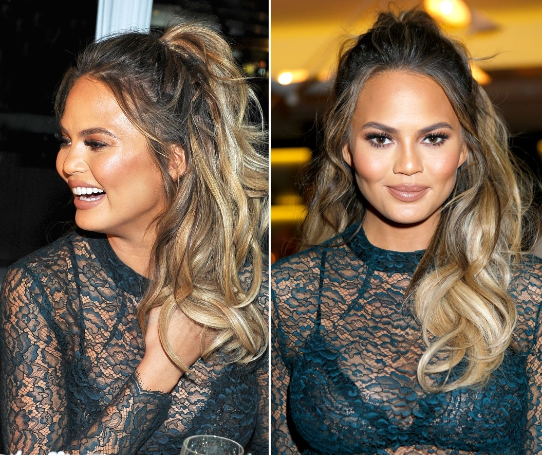 The Half Up Ponytail Is The New Hun Hairstyle: Get The Look With Newest Half Up Curly Do Ponytail Hairstyles (View 10 of 20)