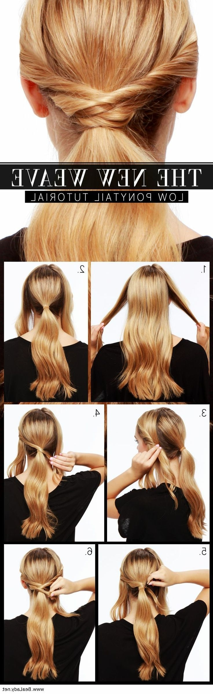 The New Wave – Low Ponytail Tutorial (View 10 of 20)