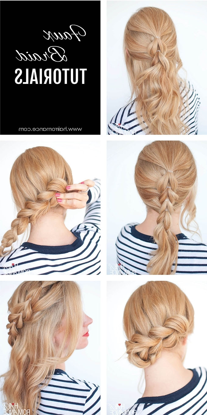 The No Braid Braid – 5 Pull Through Braid Tutorials – Hair Romance For Popular Loose And Looped Ponytail Hairstyles (View 2 of 20)