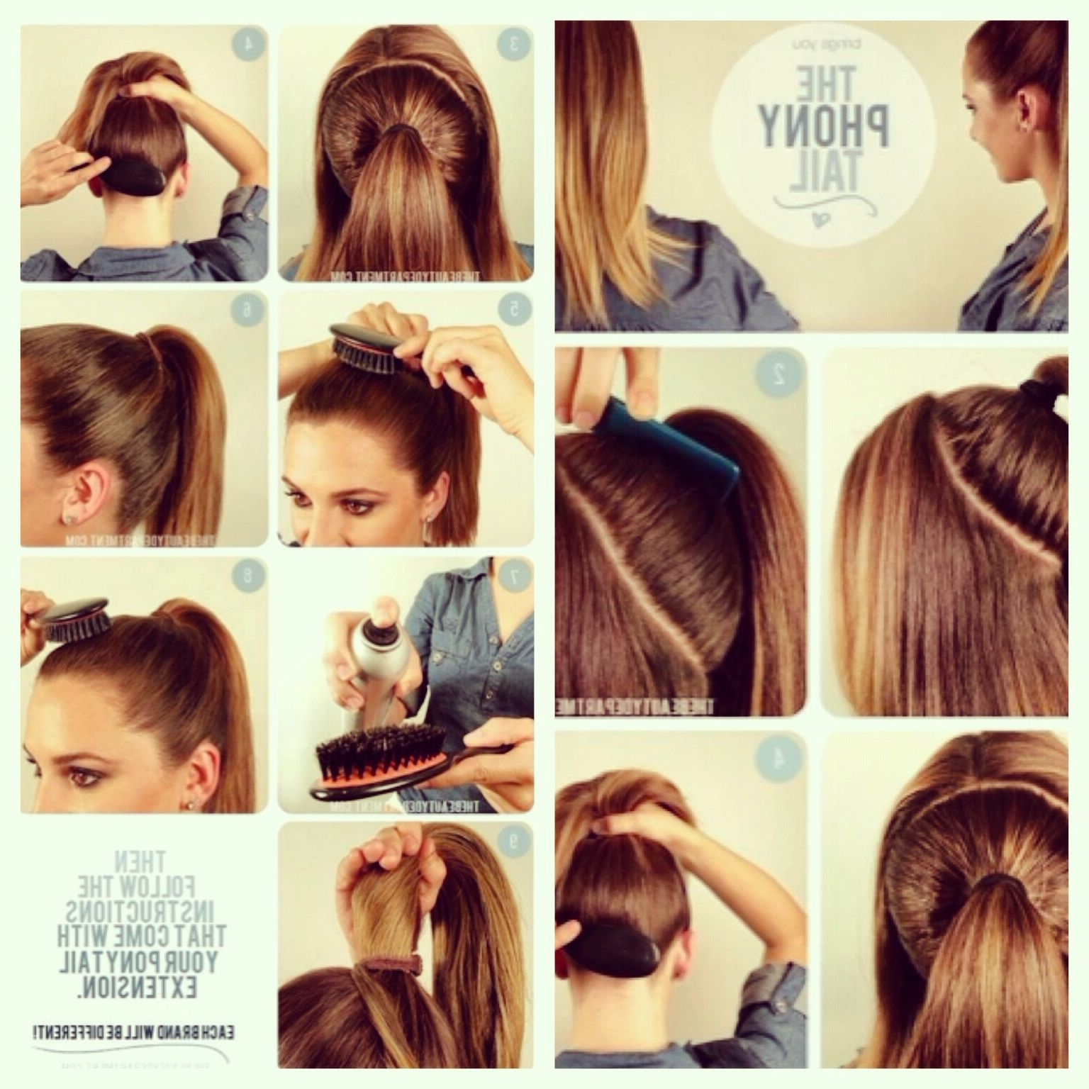 """The """"phony Tail"""" Easy Steps To Get A Full Ponytail With Clip In Hair Pertaining To Most Recently Released Long Blond Ponytail Hairstyles With Bump And Sparkling Clip (View 16 of 20)"""
