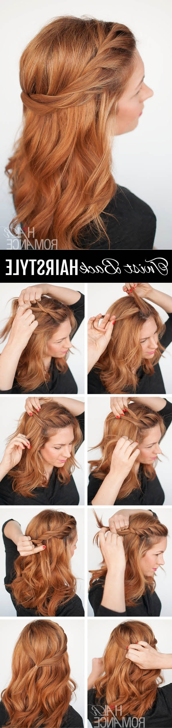 The Twist Back – Easy Half Up Hairstyle Tutorial – Hair Romance Within Favorite Romantic Twisted Hairdo Hairstyles (View 16 of 20)