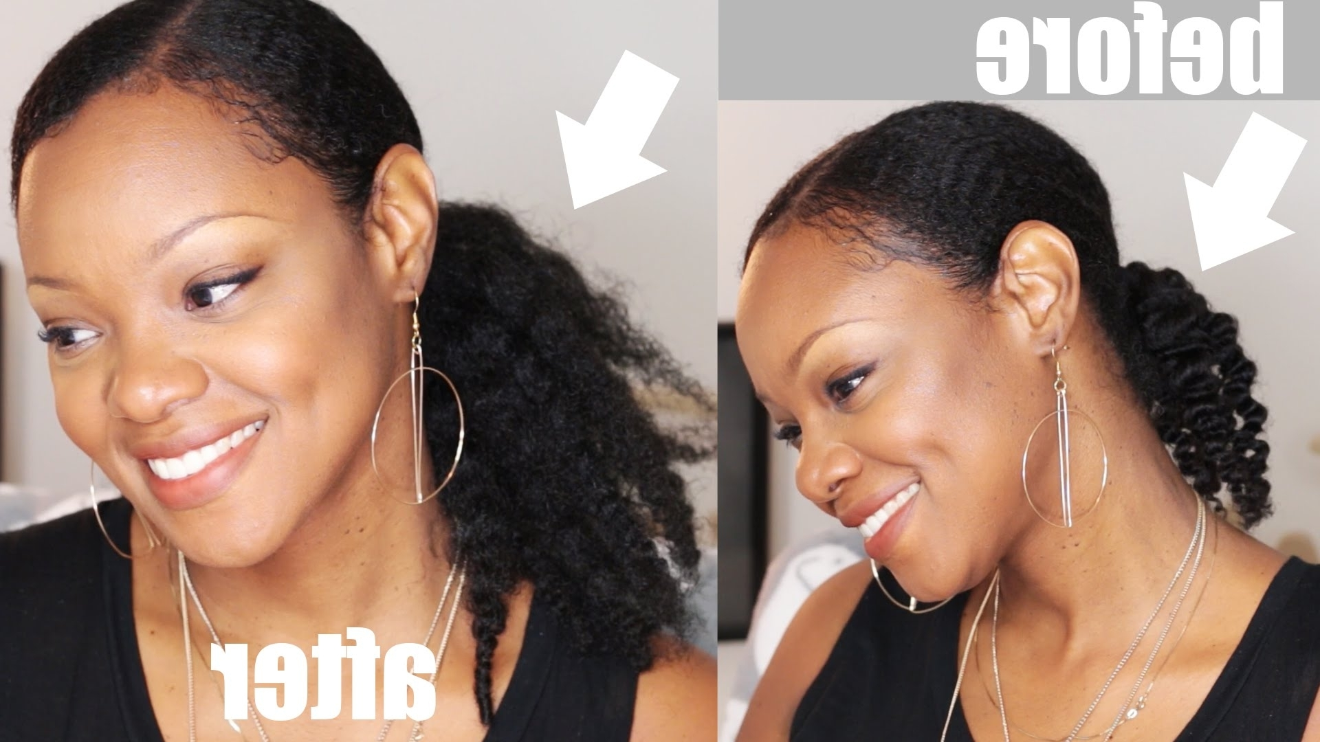 Thicker Hair No Braiding! Thin Throughout Widely Used Low Hanging Ponytail Hairstyles (View 12 of 20)