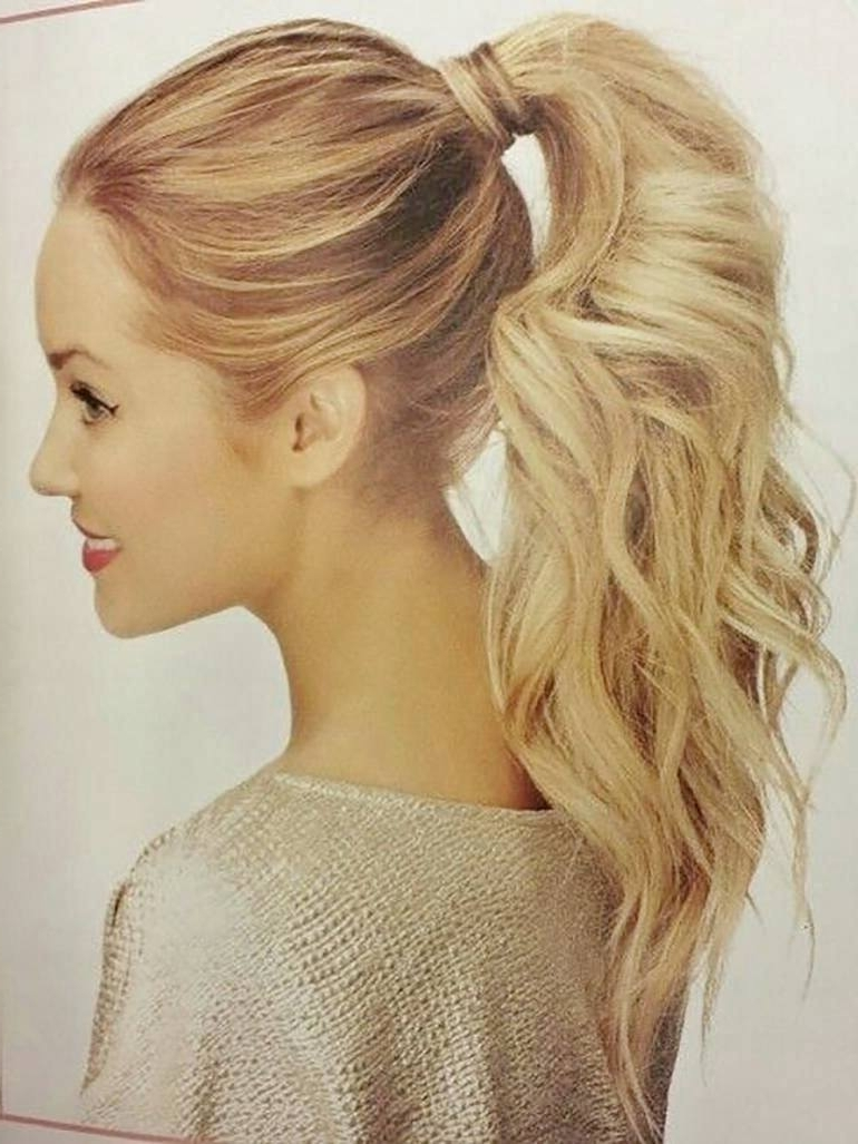 Top 10 Ponytail Hairstyles Inside Most Recently Released Messy Waves Ponytail Hairstyles (View 5 of 20)
