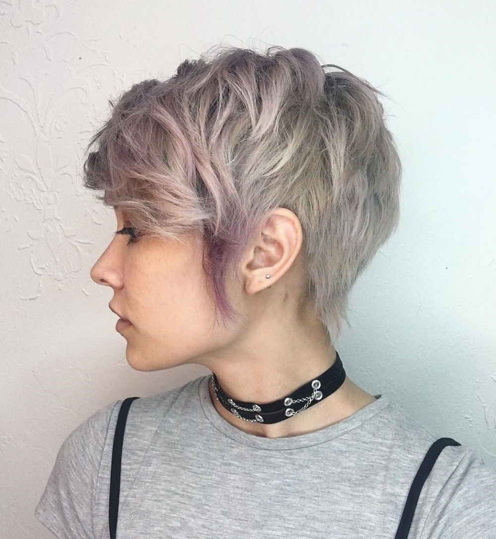 Trendy Ashy Blonde Pixie Hairstyles With A Messy Touch With 70 Cute And Easy To Style Short Layered Hairstyles (View 2 of 20)