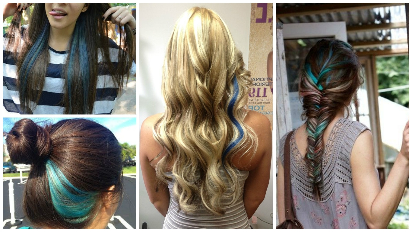 Trendy Blonde Hairstyles With Green Highlights Inside Blue Highlight Ideas – Hair World Magazine (View 18 of 20)