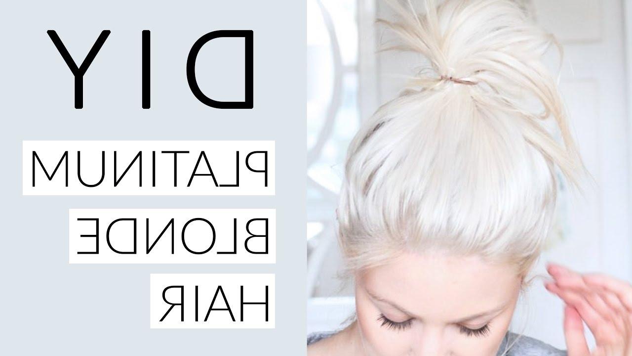 Trendy Blonde Hairstyles With Platinum Babylights Regarding Diy Icy White Platinum Blonde Hair Tutorial – Youtube (View 19 of 20)