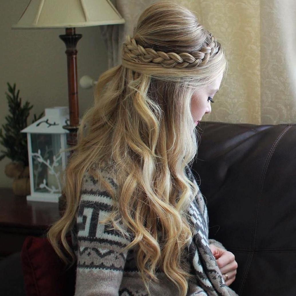 Trendy Brunette Macrame Braid Hairstyles Regarding Hairstyles: Long Hair Bump Braid (View 15 of 20)