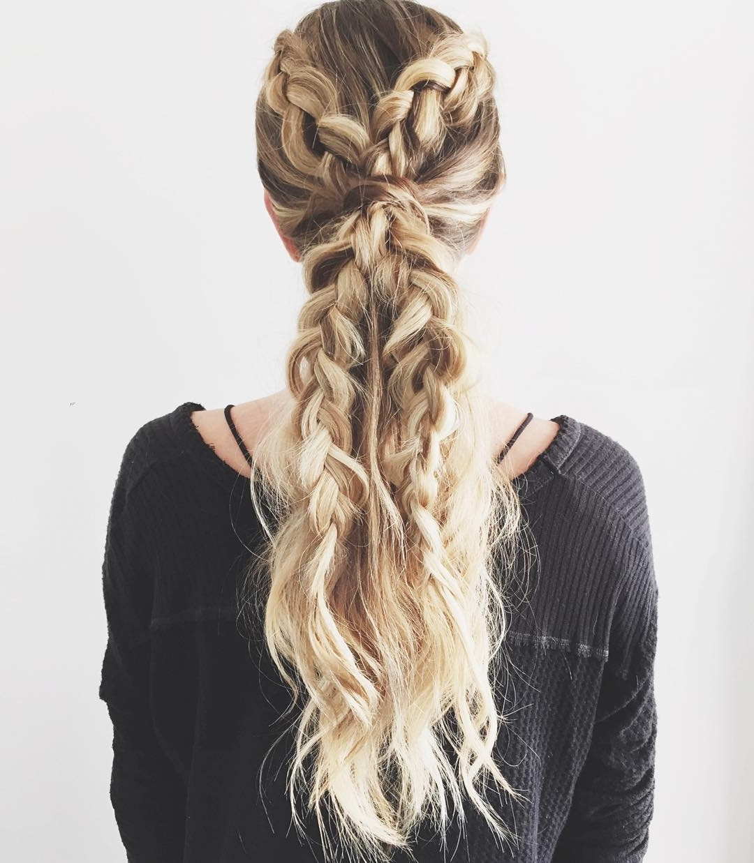 Trendy Brunette Ponytail Hairstyles With Braided Bangs With 30 Braided Ponytail Hairstyles To Slay In (View 3 of 20)