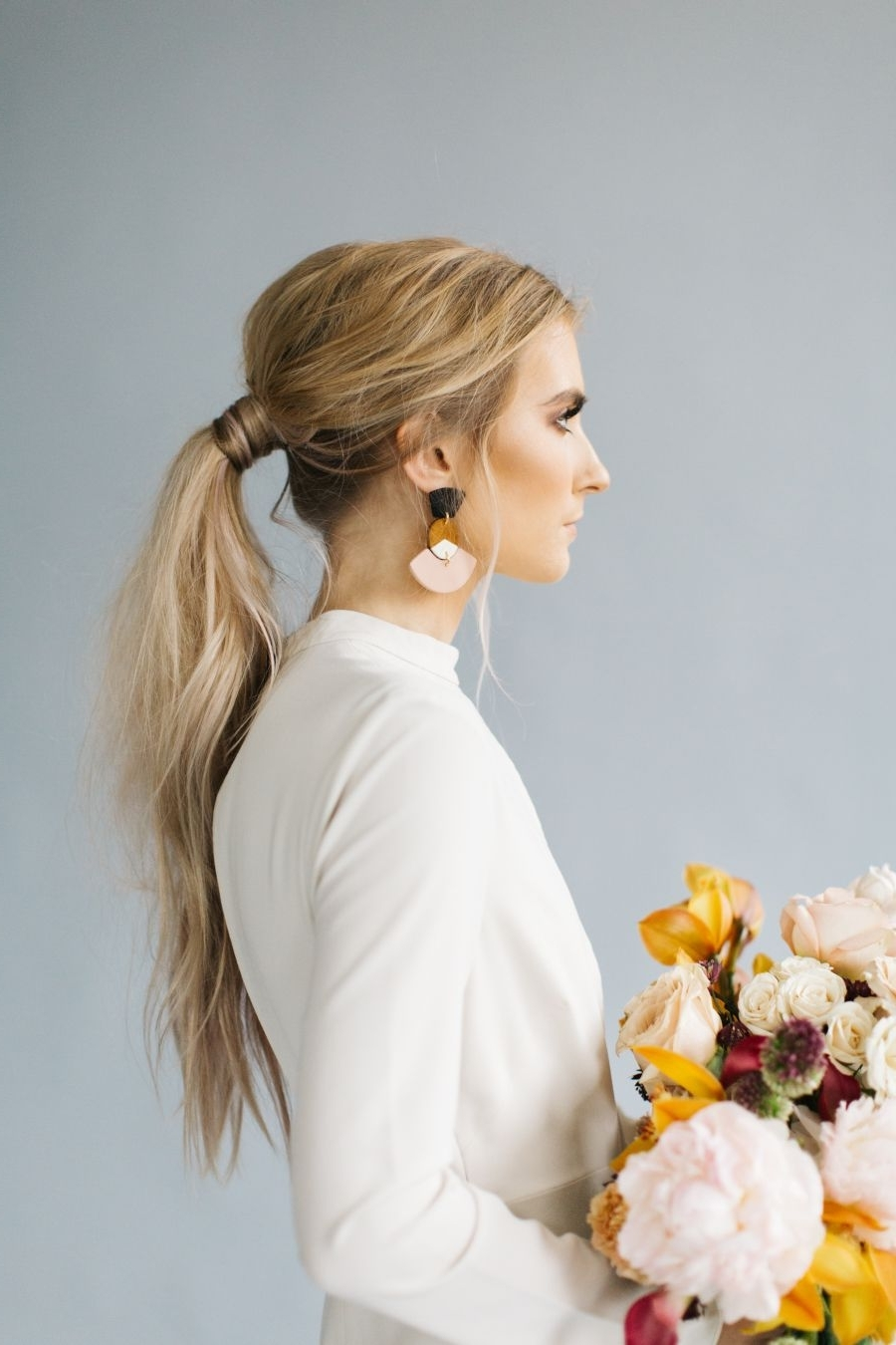 Trendy Classy Flower Studded Pony Hairstyles Regarding Stunning Inspo That Blurs The Line Between Modern And Romantic (View 18 of 20)
