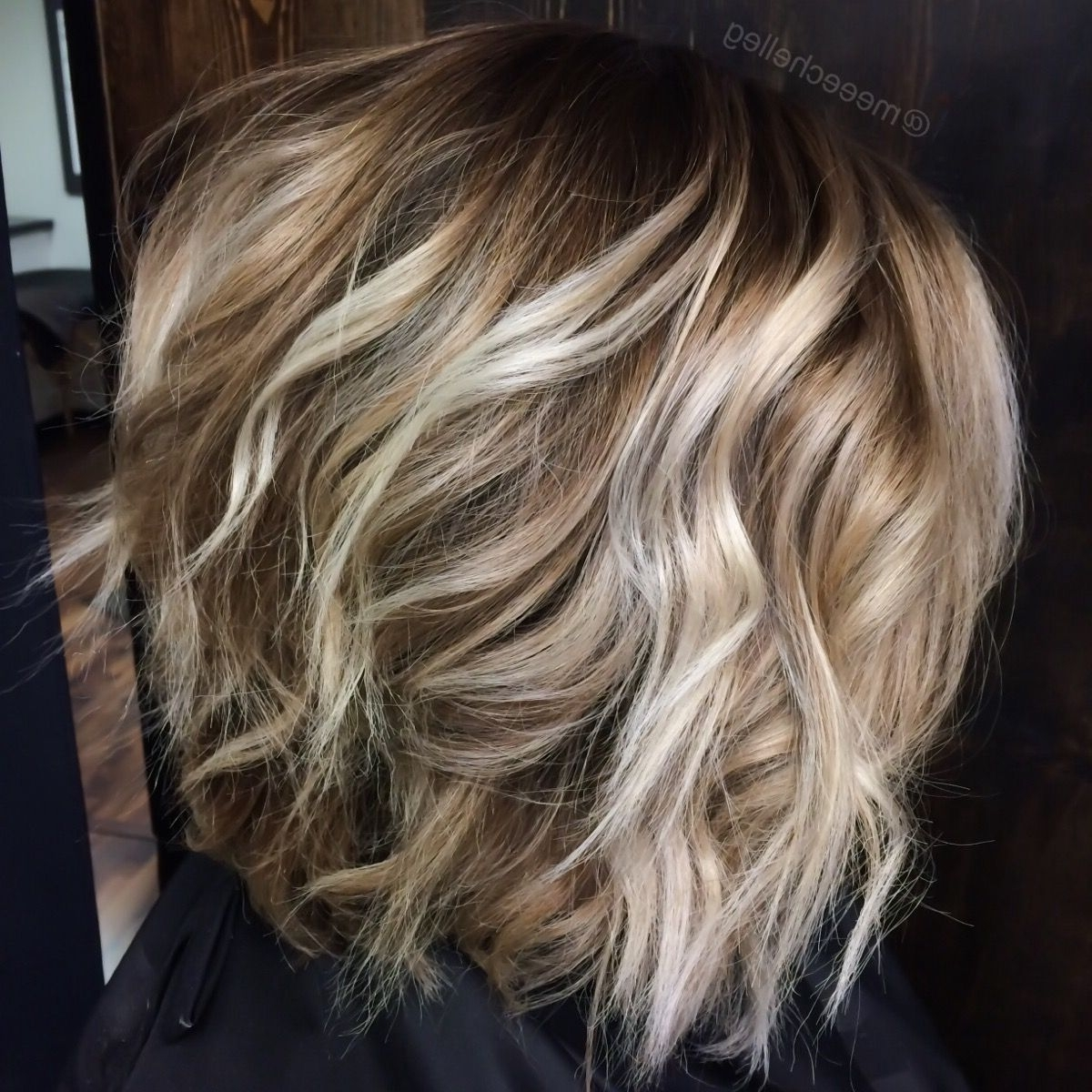 Trendy Dishwater Waves Blonde Hairstyles Throughout Bob, Blonde, Highlights, Lowlights, Bright Blonde Pieces, Waves (View 19 of 20)