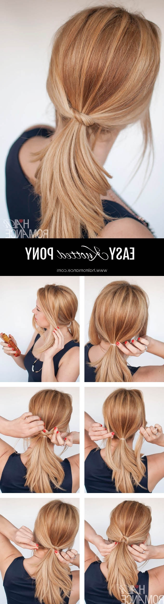 Trendy Knotted Ponytail Hairstyles For 3 Chic Ponytail Tutorials To Lift Your Everyday Hair Game – Hair Romance (View 16 of 20)