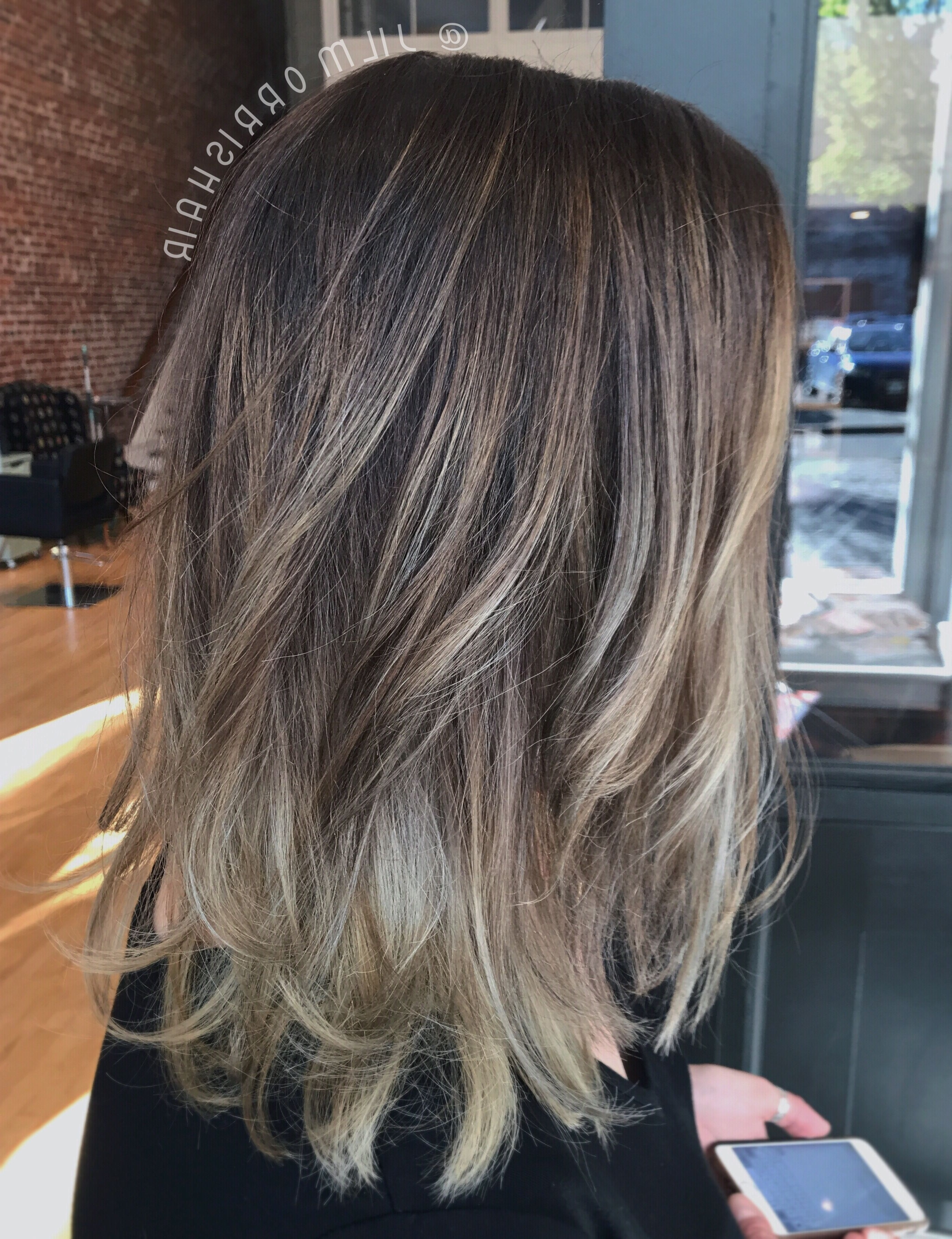 Trendy Light Ash Locks Blonde Hairstyles With Regard To Dark Ash Blonde Sombré, Balayage Highlights With Rooty Lowlights (View 17 of 20)