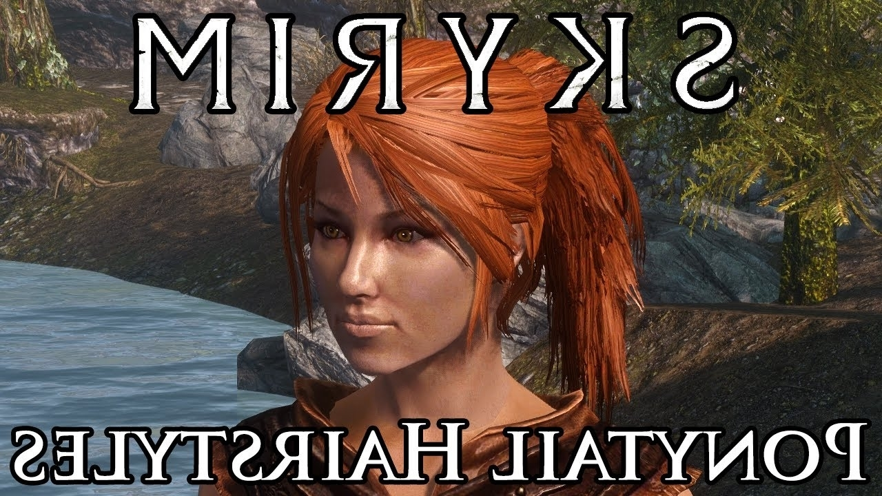 Trendy Mod Ponytail Hairstyles Within Skyrim Mod Spotlight: Ponytail Hairstyles – Youtube (View 18 of 20)