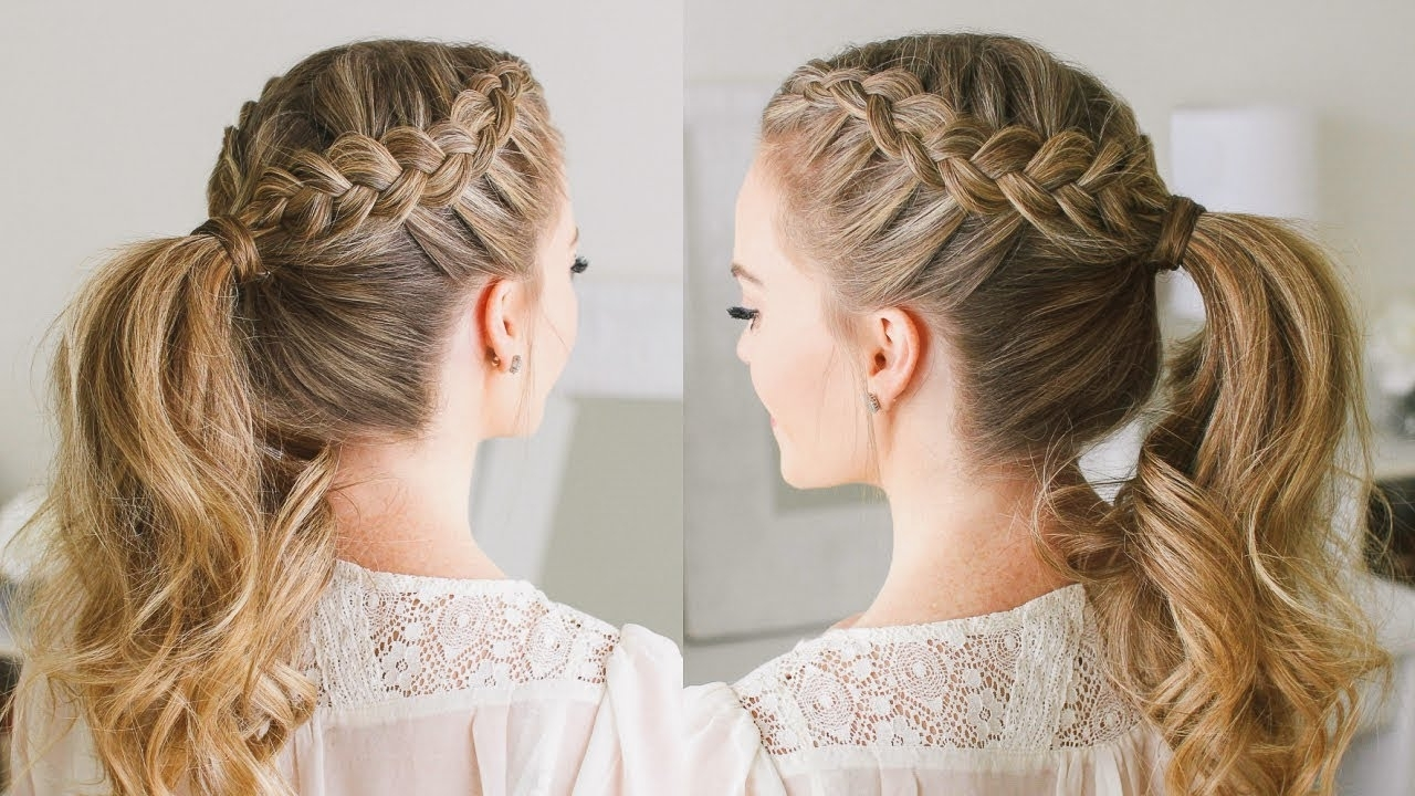 Trendy Perfectly Undone Half Braid Ponytail With Double Dutch Braid Ponytail (View 5 of 20)