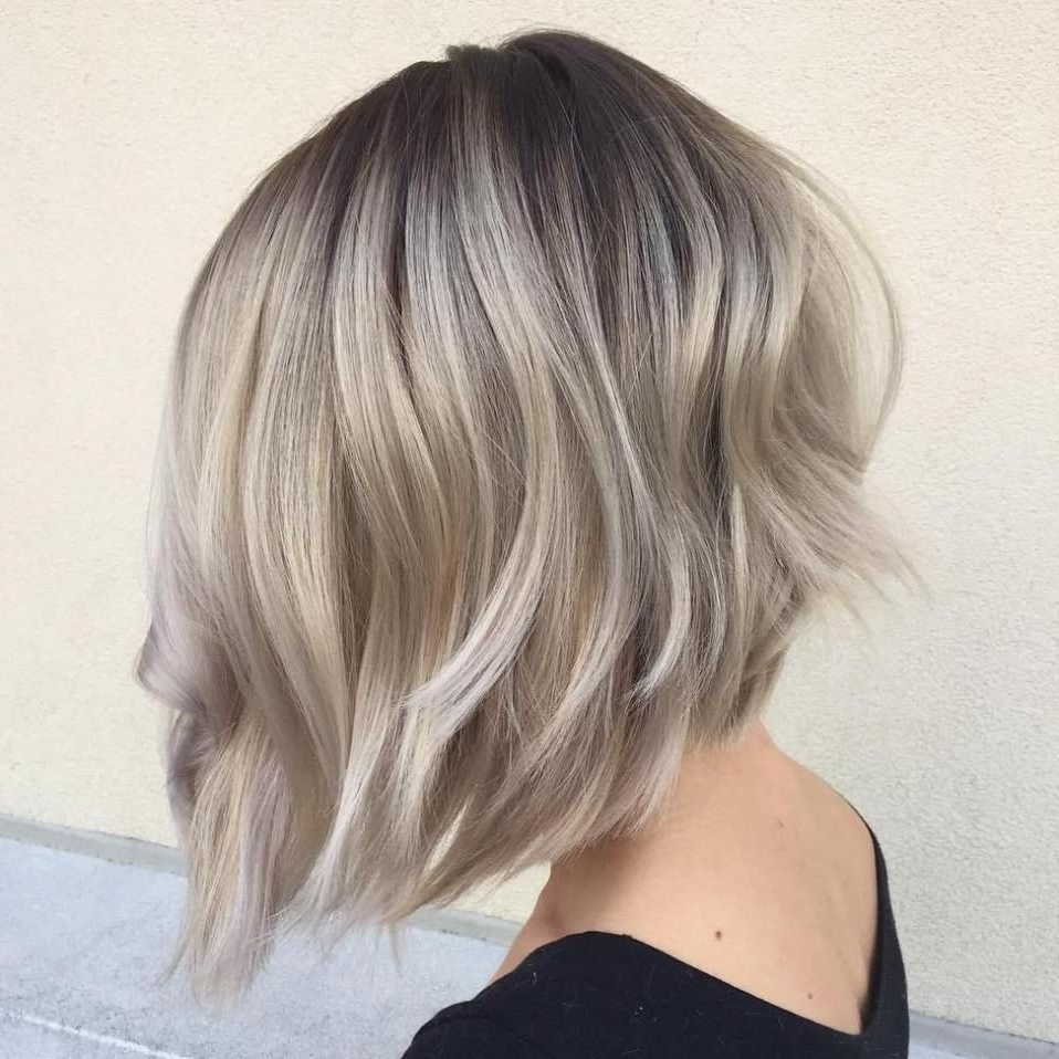 Trendy Short Silver Blonde Bob Hairstyles With 60 Beautiful And Convenient Medium Bob Hairstyles (View 20 of 20)