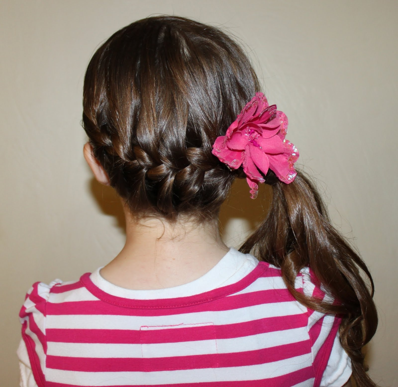Trendy Side Ponytail Hairstyles With Braid In Kids Side French Hairstyle Stepstep Low French Braid To Side (View 18 of 20)