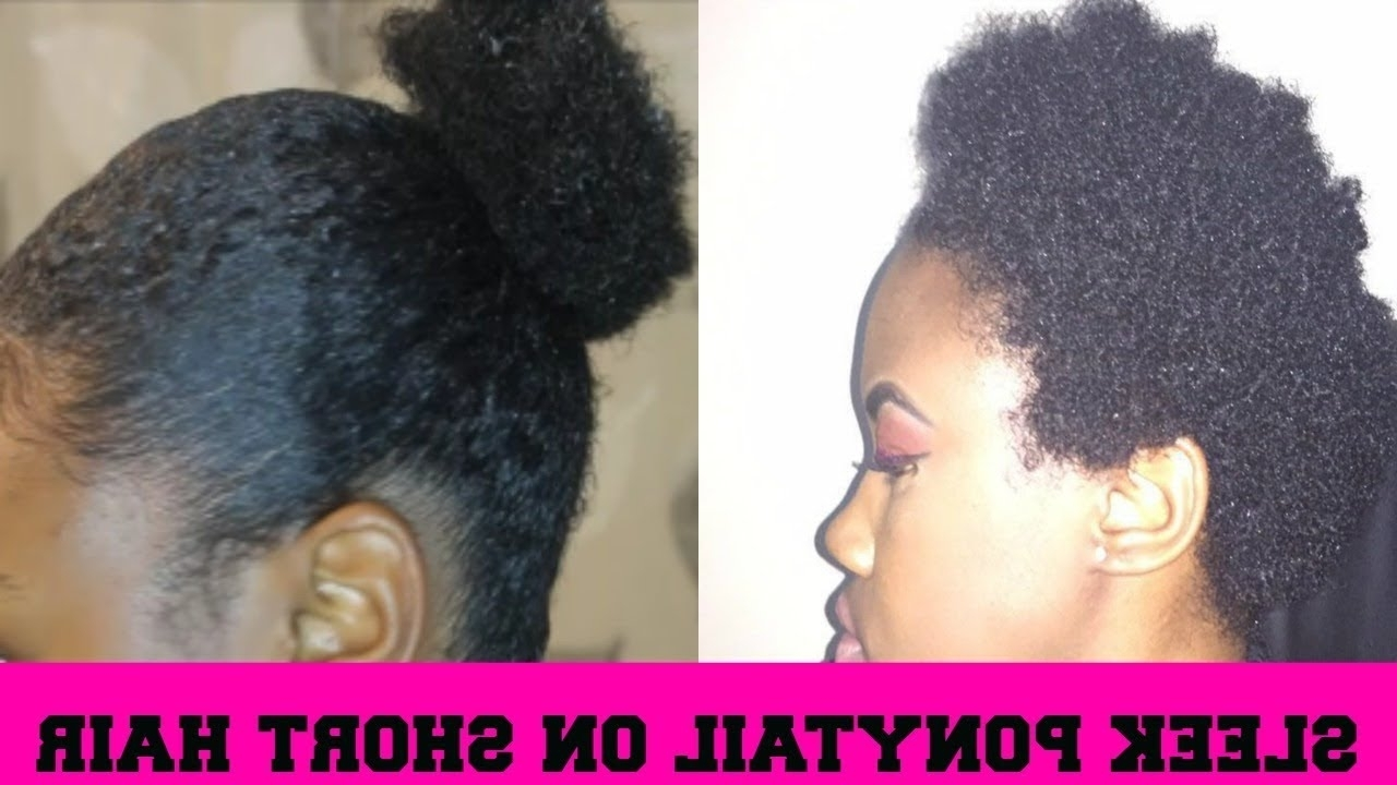 Trendy Sleek And Shiny Ponytail Hairstyles With Regard To How To: Sleek Ponytail On Short Natural Hair (View 19 of 20)
