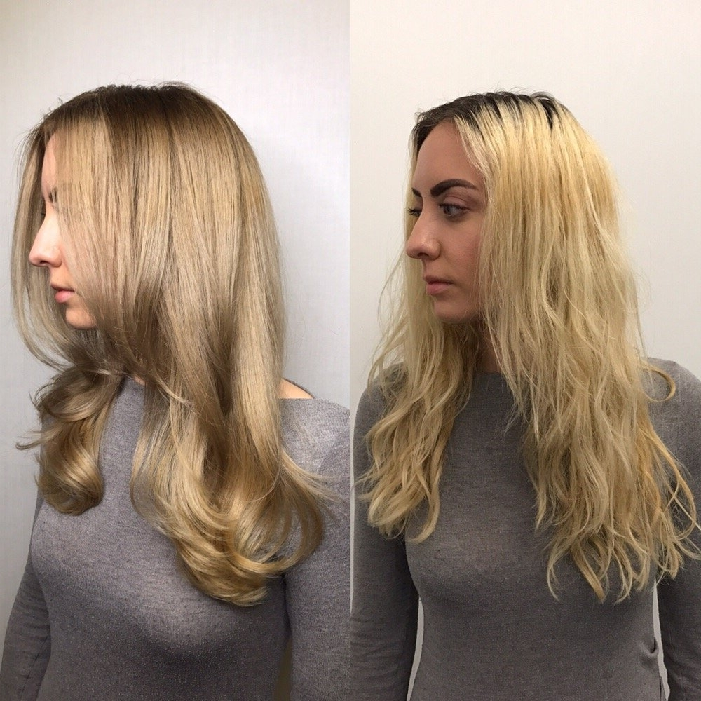 Trendy Straight Sandy Blonde Layers With Regard To Before And After (View 20 of 20)