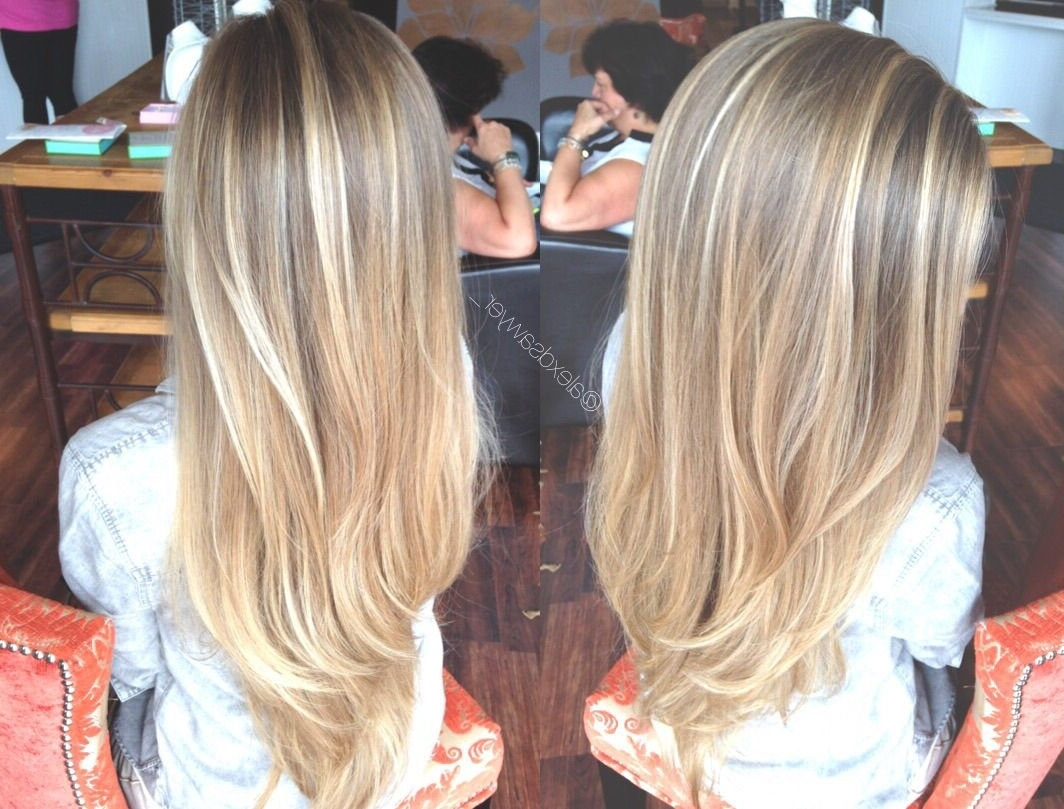 Trendy Sun Kissed Blonde Hairstyles With Sweeping Layers In Sun Kissed Blonde Balayage Is Always A Win (View 16 of 20)
