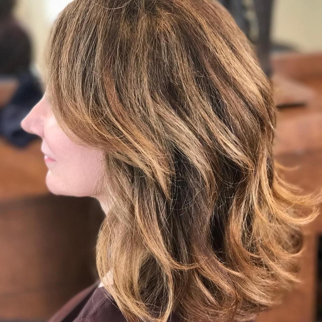 Trendy Tortoiseshell Curls Blonde Hairstyles Within Bronze #caramel #blonde #tortoiseshell #balayage #balayagespecialist (View 18 of 20)