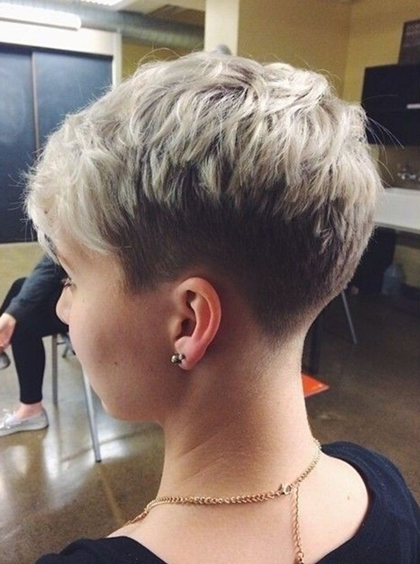 Trendy Undercut Pixie Hairstyles With Regard To Cool Back View Undercut Pixie Haircut Hairstyle Ideas  (View 13 of 20)