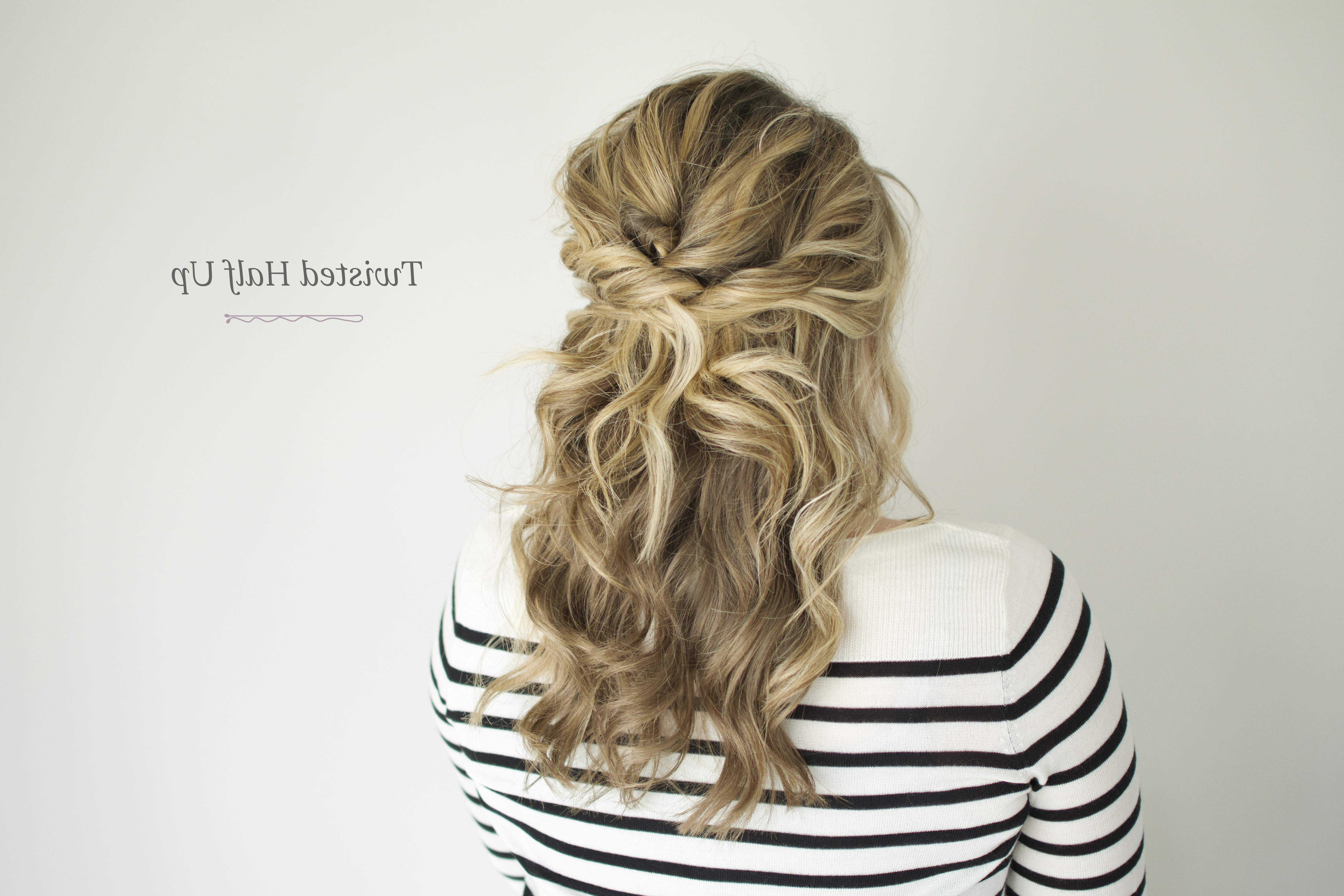 Twisted Half Up Tutorial – The Small Things Blog Pertaining To Current Romantic Twisted Hairdo Hairstyles (Gallery 19 of 20)