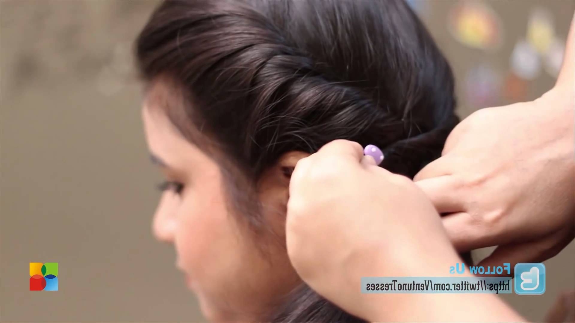 Twisted Side Ponytail – Youtube Regarding 2017 Twisted Side Ponytail Hairstyles (View 5 of 20)