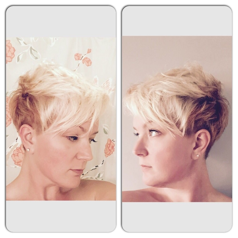 Two Tone Pixie. Undercut. Platinum Blonde And Copper (View 9 of 20)
