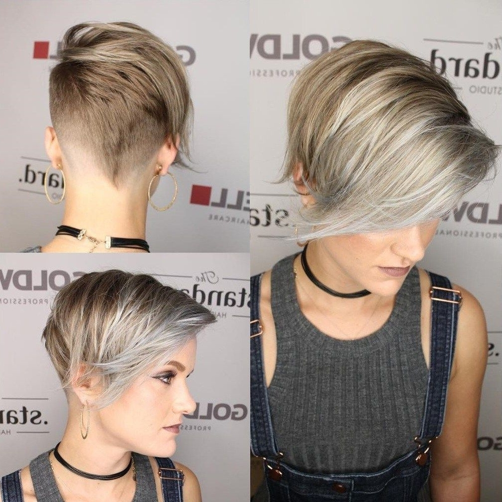 Undercut, Pixies Throughout 2018 Sassy Undercut Pixie Hairstyles With Bangs (Gallery 2 of 20)