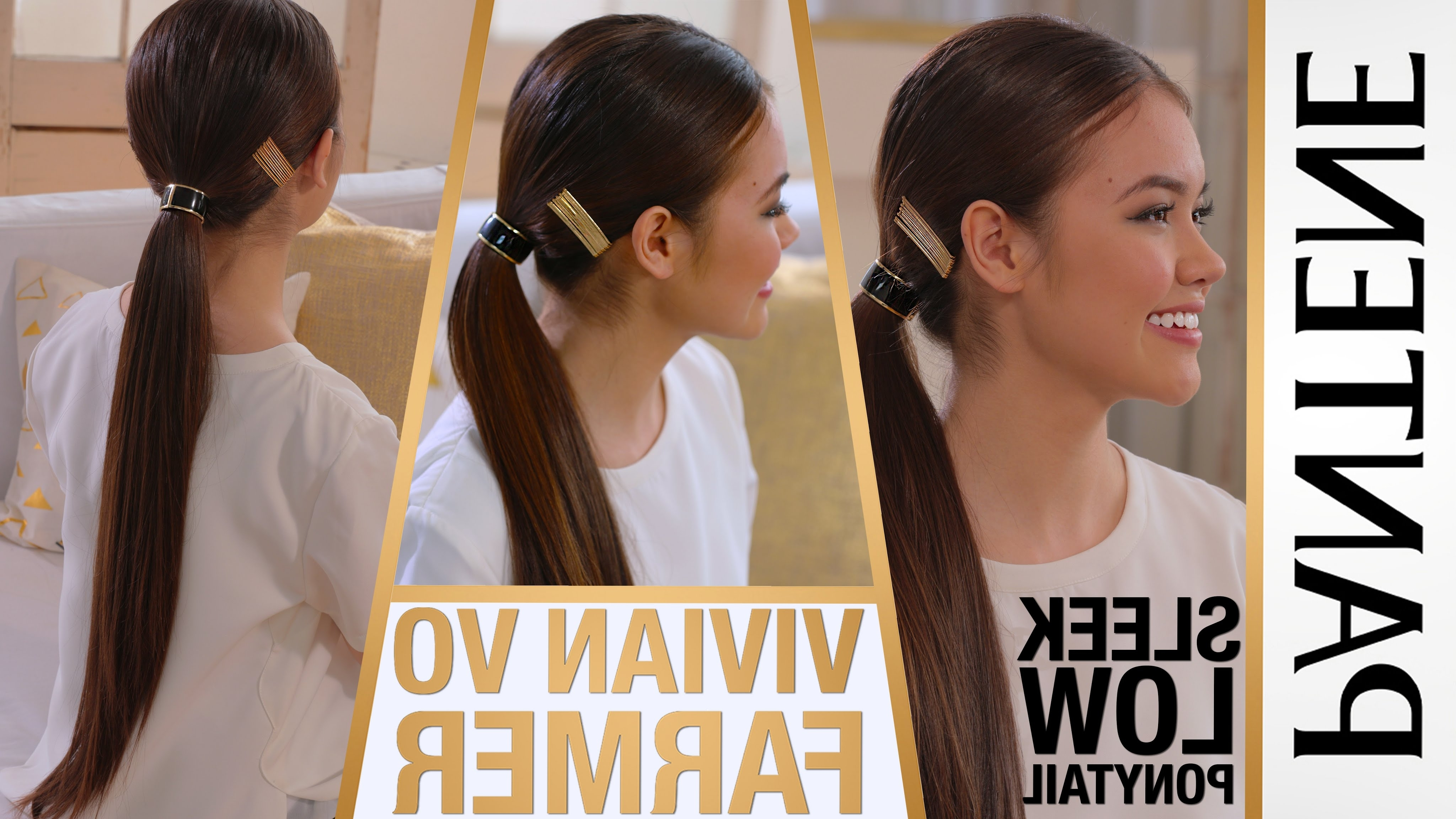 Vivian Vo Farmer – Sleek Low Ponytail Hairstyle (View 19 of 20)