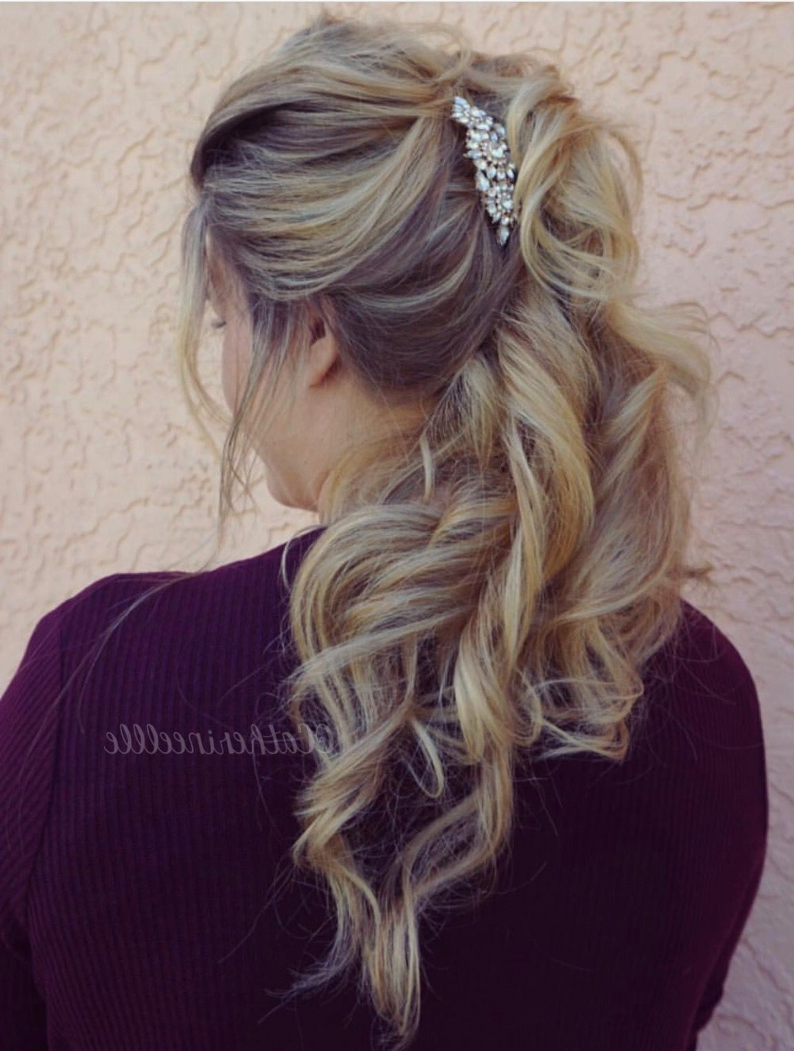 Voluminous Ponytail @catherineellle #hairstyles #hairidea #updo Pertaining To Preferred Lustrous Blonde Updo Ponytail Hairstyles (View 19 of 20)