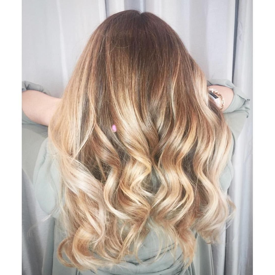 Warm Blonde Hair, Hair Painting, Balayage, Pretty Curls, Long Hair With Regard To Best And Newest Warm Blonde Curls Blonde Hairstyles (View 17 of 20)