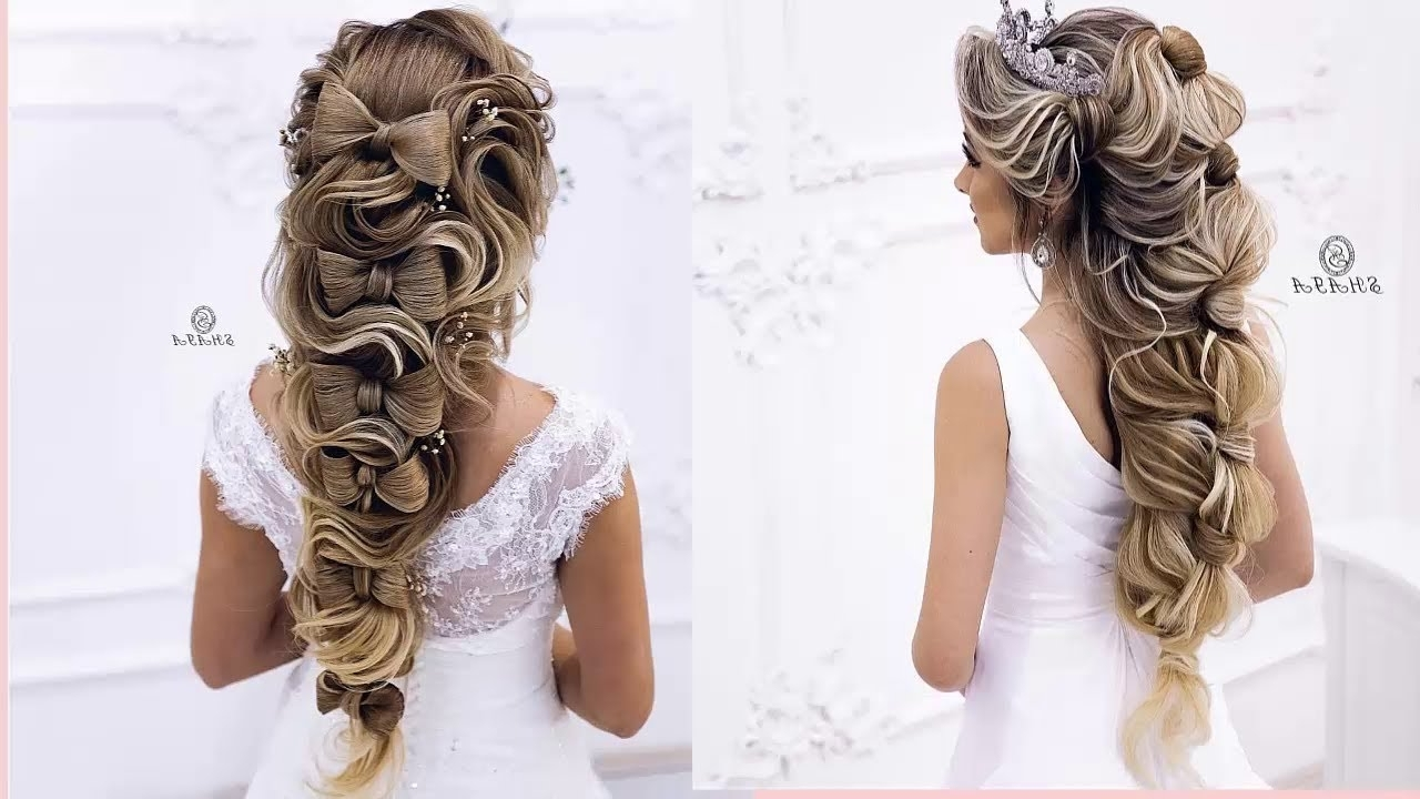 Wedding Hairstyles Tutorial Pertaining To Well Liked Fabulous Bridal Pony Hairstyles (View 8 of 20)