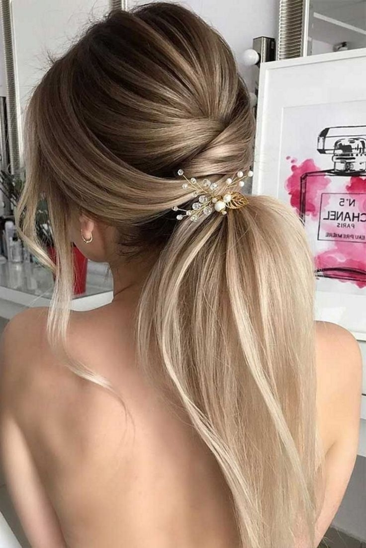 Wedding Hairstyles With Low Ponytail (View 17 of 20)