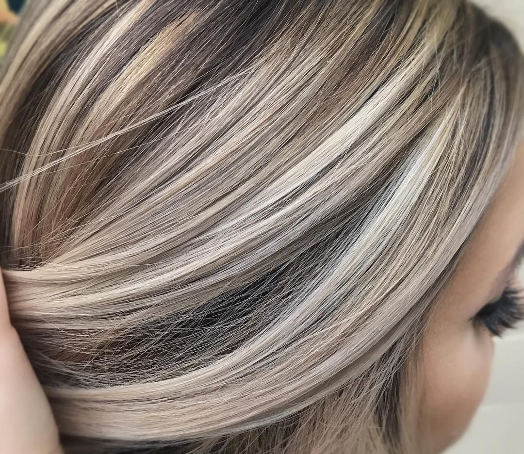 Well Known Ash Blonde Half Up Hairstyles Inside Cool Ash Blonde Against A Neutral Brown (View 20 of 20)