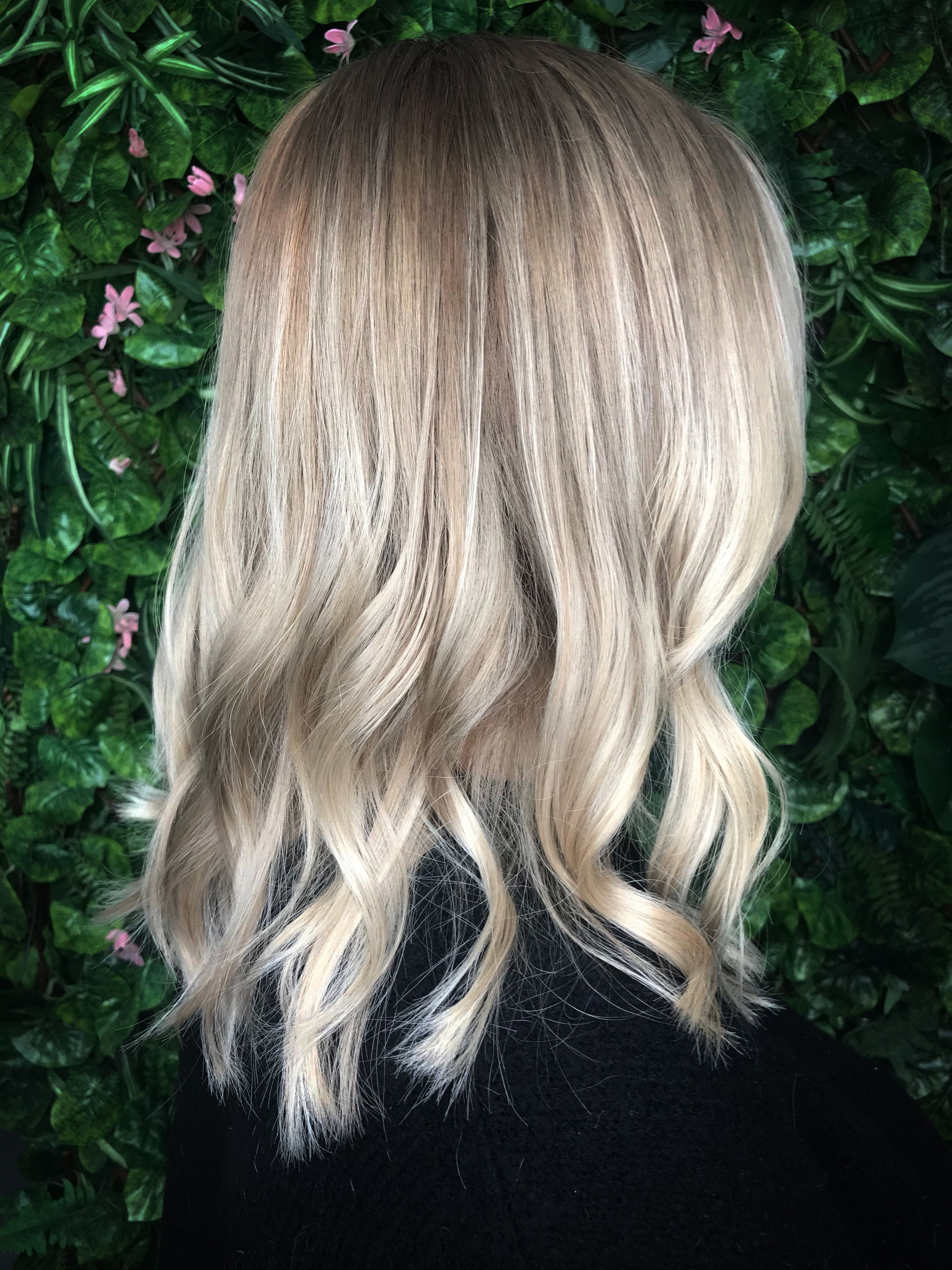 Well Known Ash Blonde Lob With Subtle Waves Throughout Ash Blonde Balayage , Natural Blondes Babylights , And Highlights On (View 17 of 20)