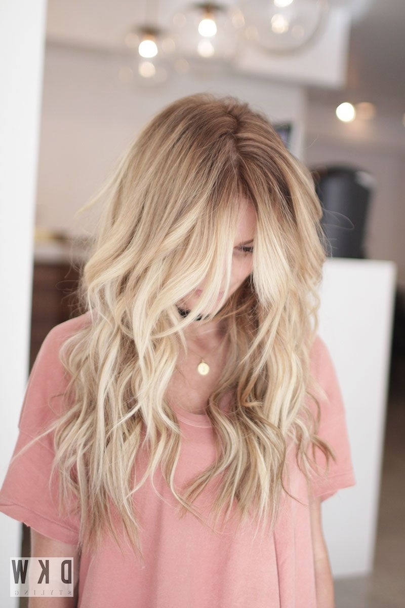 Well Known Beachy Waves Hairstyles With Blonde Highlights Intended For 2018 Beach Waves Hairstyle Inspirational Blonde Highlights In Long (View 19 of 20)