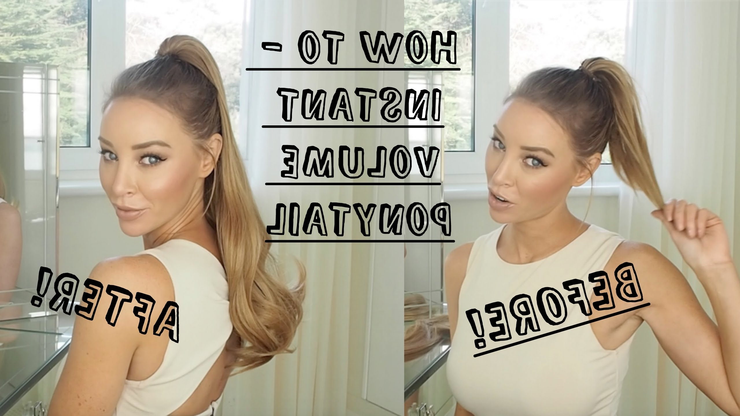 Well Known Big And Bouncy Half Ponytail Hairstyles Intended For How To – Instant Big And Bouncy Ponytail – Lauren Pope – Youtube (View 20 of 20)