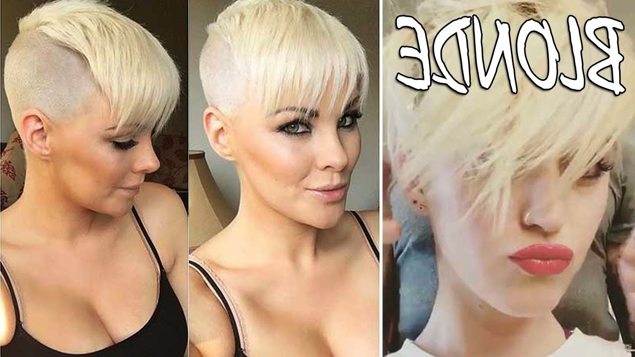 Well Known Bleach Blonde Pixie Hairstyles In 35 White Platinum Blonde Hair – Short Blonde Hair For Women – Youtube (View 19 of 20)