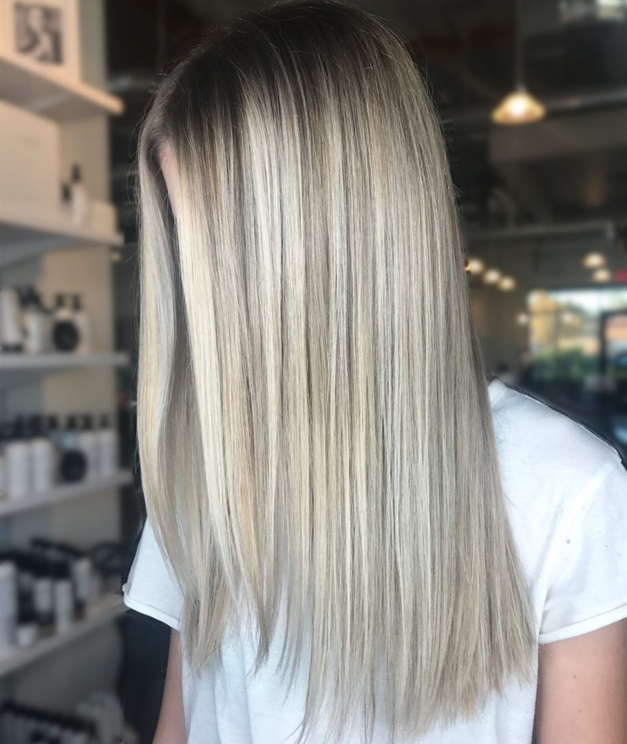 Well Known Bright Long Bob Blonde Hairstyles Within 29 Prettiest Hairstyles For Long Straight Hair In  (View 19 of 20)