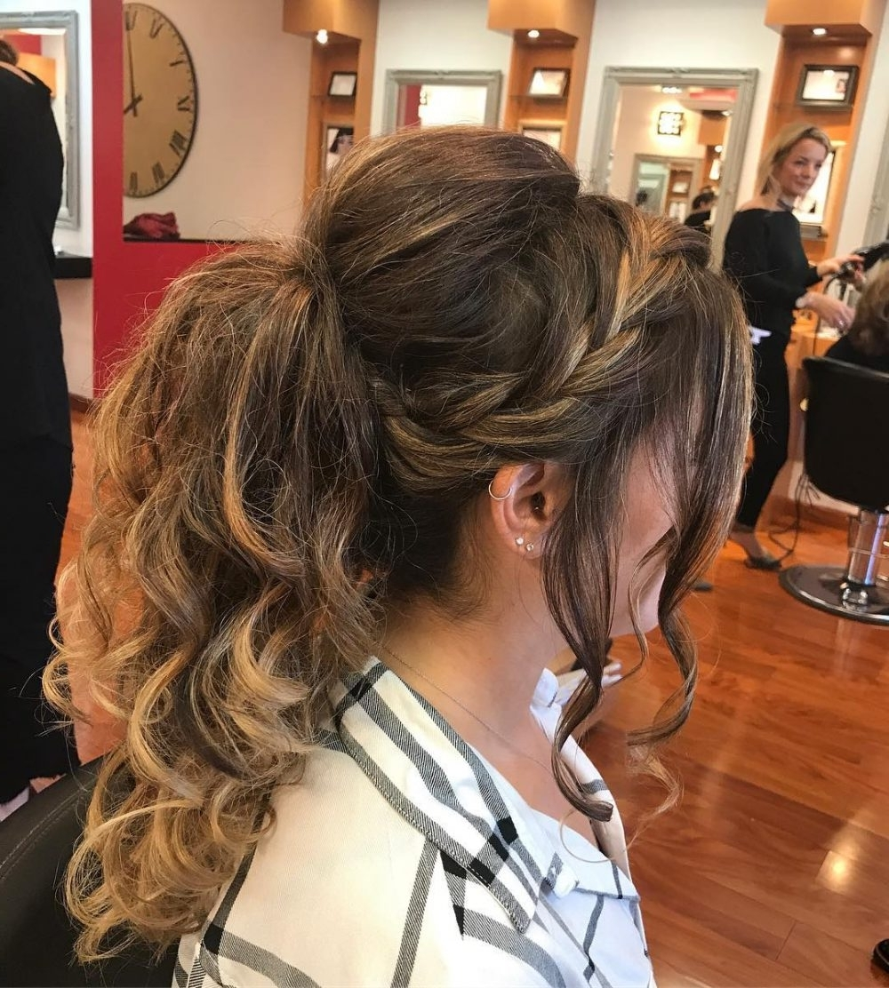 Well Known Brunette Prom Ponytail Hairstyles Pertaining To 32 Super Hot Prom Updos For Long Hair (View 11 of 20)
