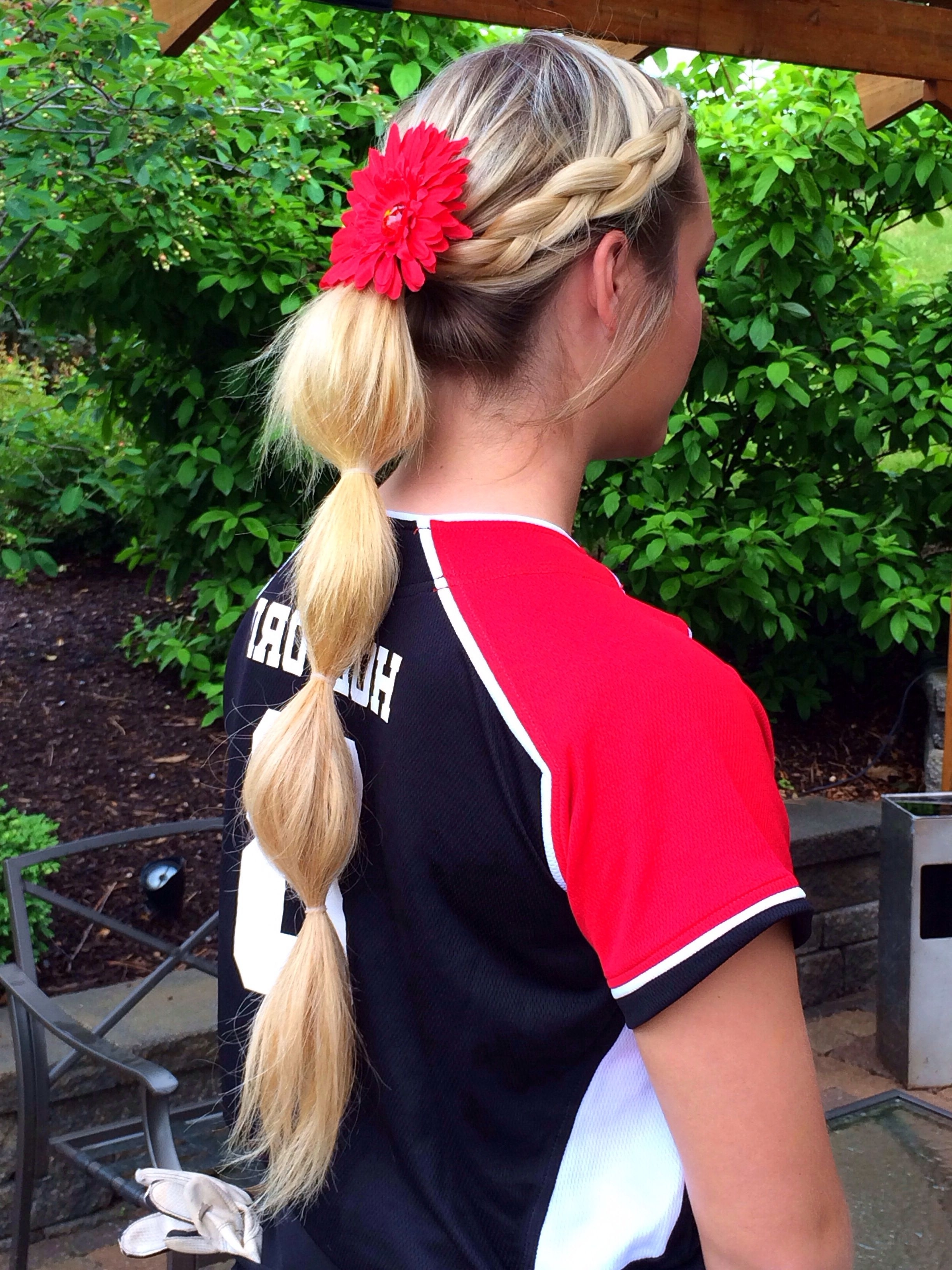 Well Known Bubbly Blonde Pony Hairstyles In Softball Hair Softball Hairstyles (View 19 of 20)