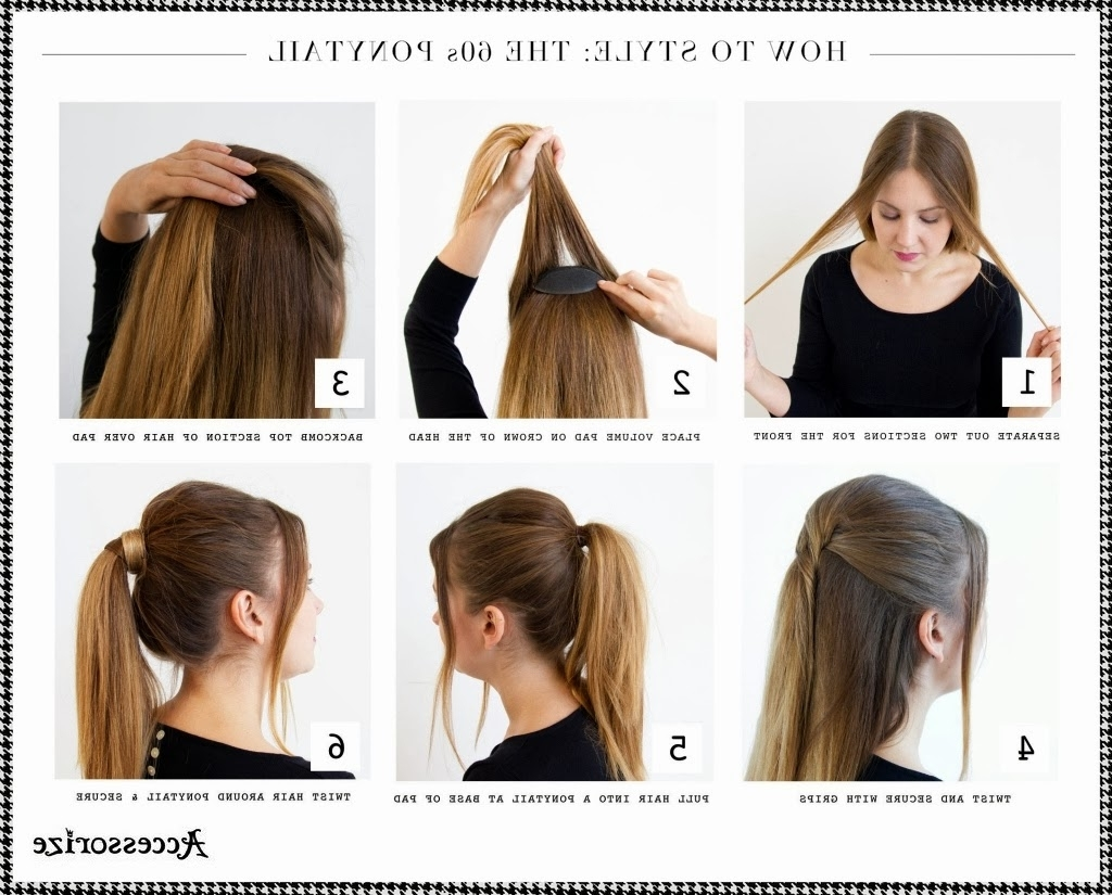 Well Known Chic High Ponytail Hairstyles With A Twist In Ponytail Hairstyles With Tutorials For Short & Long Hair – Trendy (View 17 of 20)