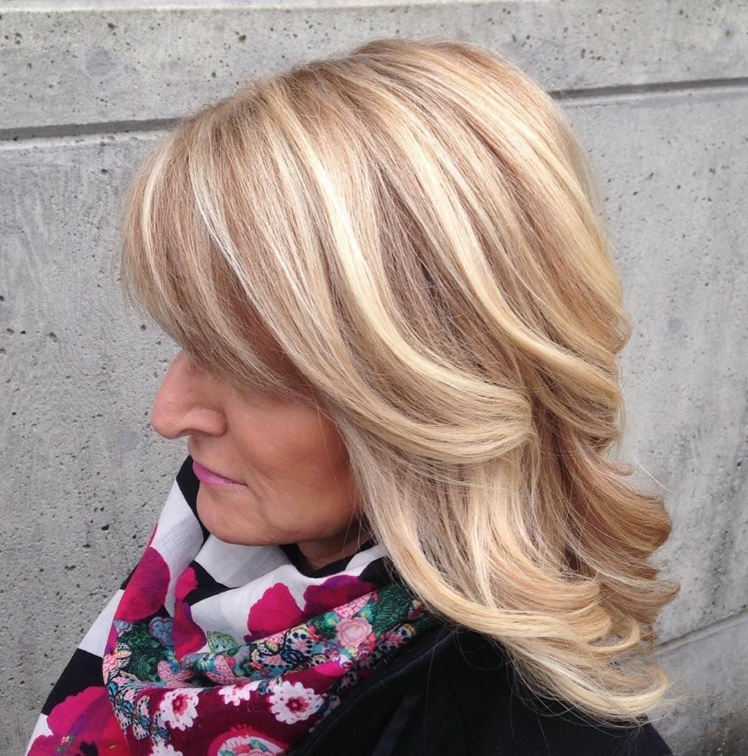 Well Known Creamy Blonde Waves With Bangs Throughout 37 Likes, 5 Comments – Amber ✂️vancouver Hairstylist (View 18 of 20)