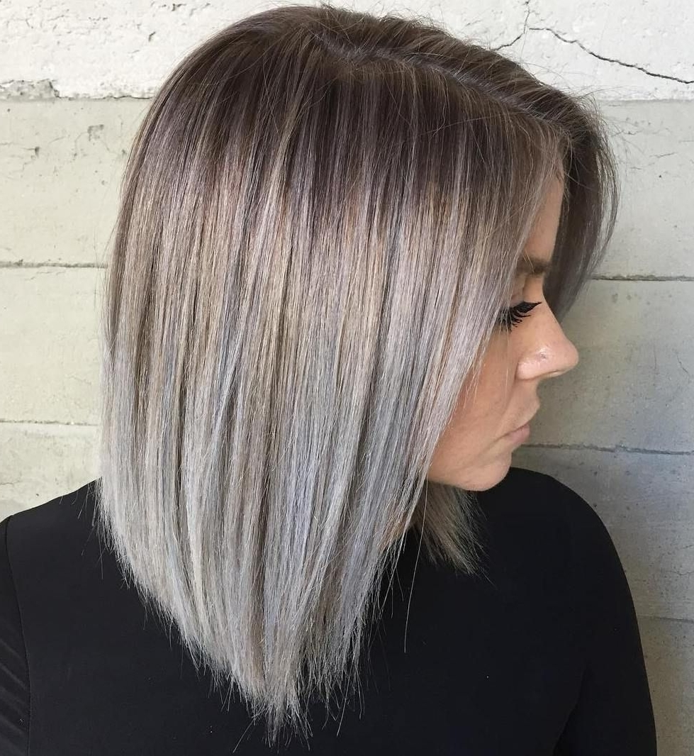Well Known Fade To White Blonde Hairstyles Pertaining To 45 Shades Of Grey: Silver And White Highlights For Eternal Youth In (View 11 of 20)